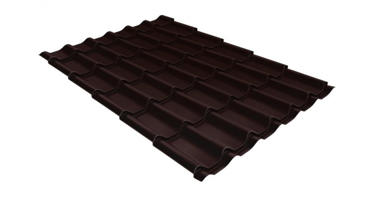 Металлочерепица Grand Line Classic 0,5 Quarzit RAL 8017 шоколад