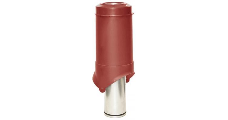Выход вентиляции Krovent Pipe-VT 125 красный
