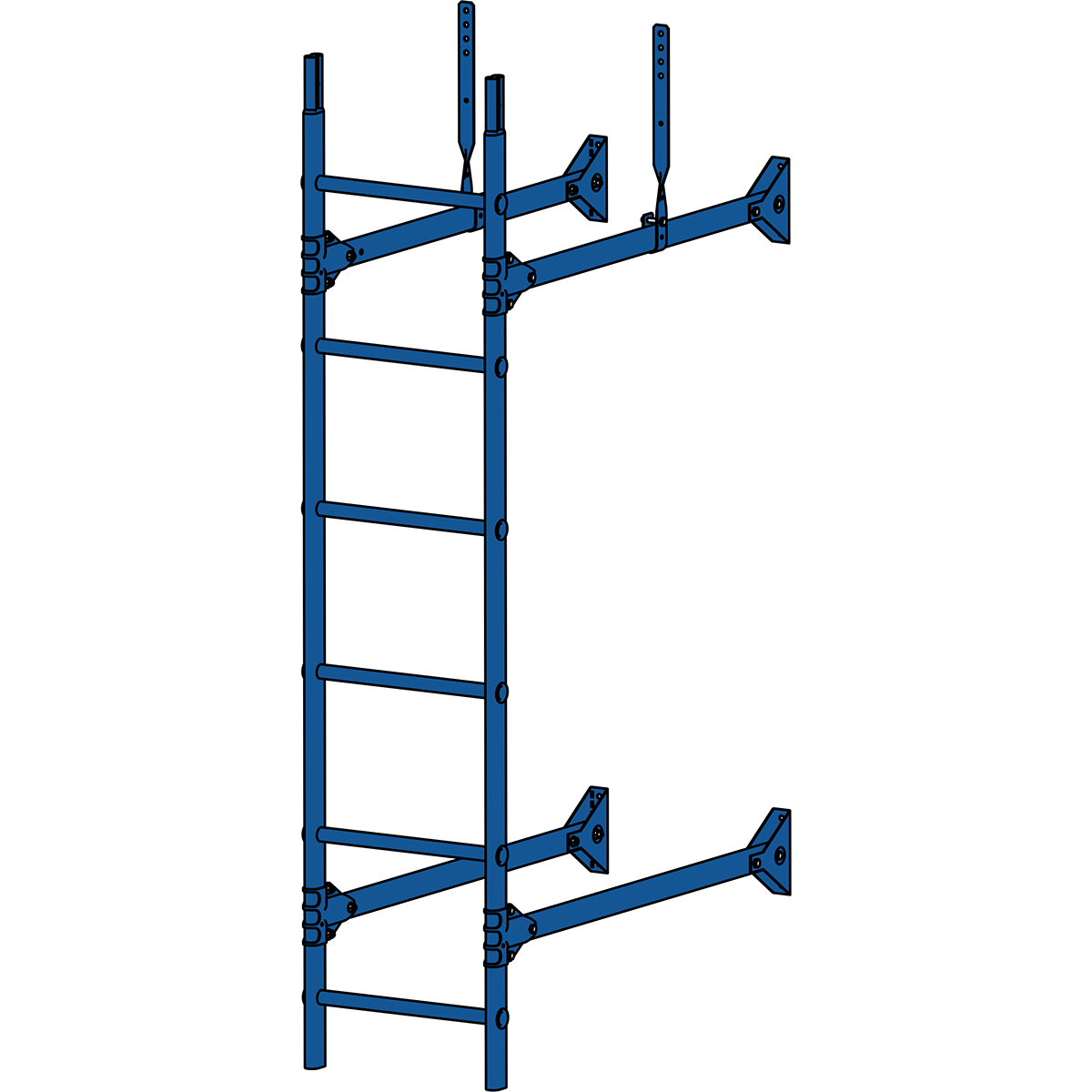 Лестница стеновая ROOFSYSTEMS PRESTIGE ZN 1,2 м RAL 5005 Синий насыщенный