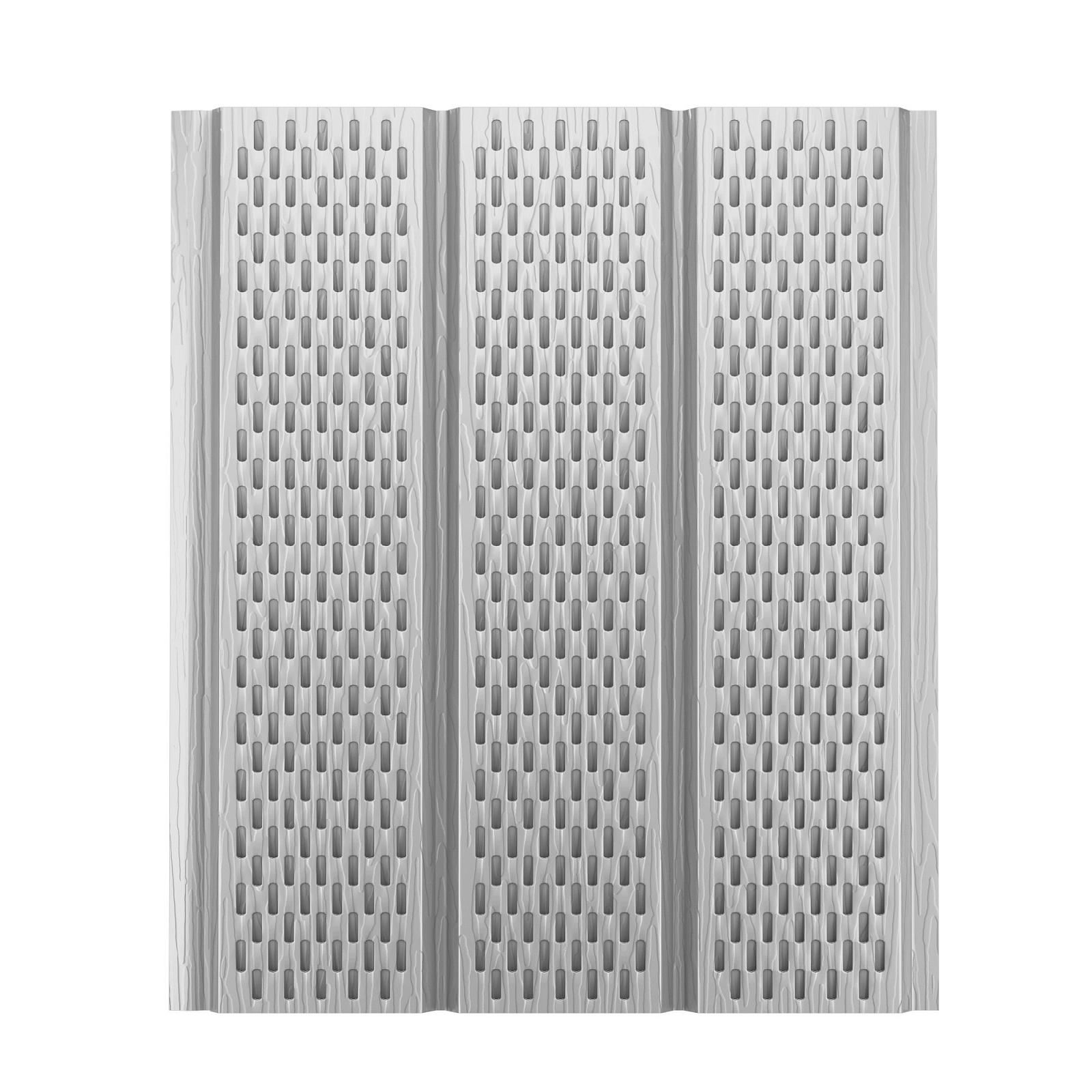 Софит алюминиевый с полной перфорацией Aquasystem Polyester, 2,4 м RR 20