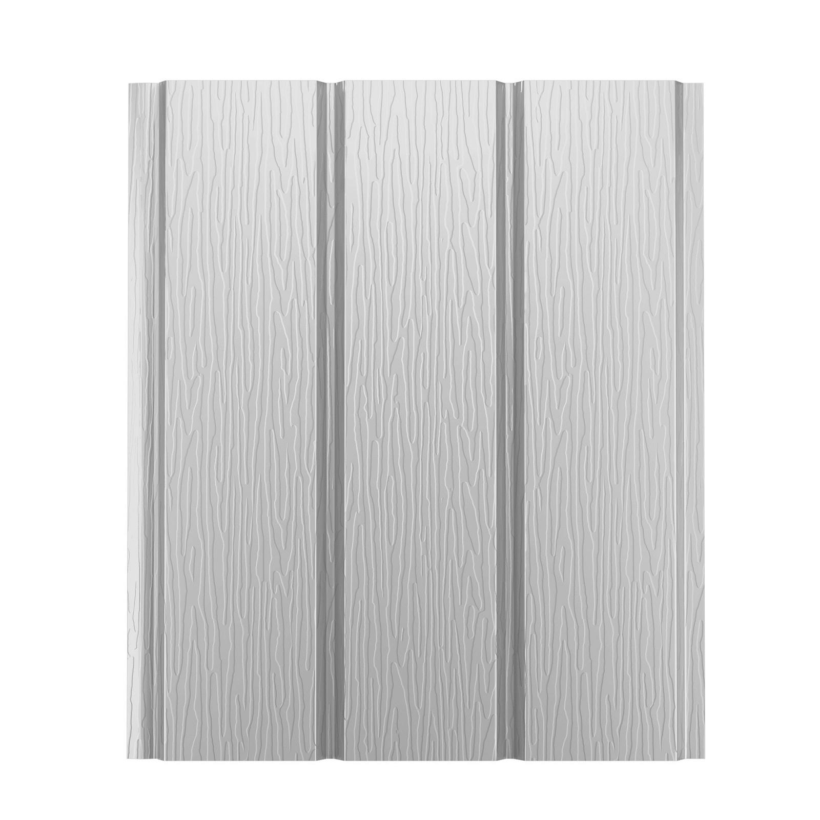 Софит металлический AquaSystem без перфорации Pural 275 г/м2, 2,4 м белый RR 20
