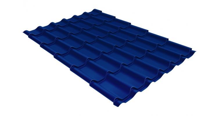 Металлочерепица Grand Line Classic 0,5 Satin RAL 5005 сигнальный синий