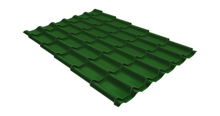 Металлочерепица Grand Line Classic 0,5 Satin с пленкой RAL 6002 лиственно-зеленый
