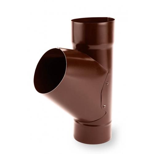 Тройник трубы PVC Galeco 67 градусов 152/124-80 RAL 8019