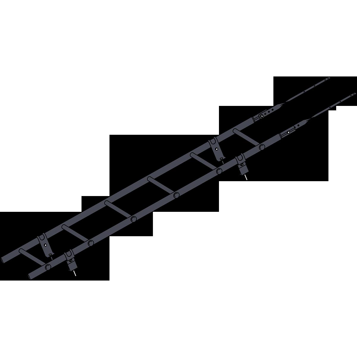 Лестница кровельная ROOFSYSTEMS PRESTIGE ZN 45х25 (овал) 400 унивеpсальная 1,2 м RAL 7024 Серый графит