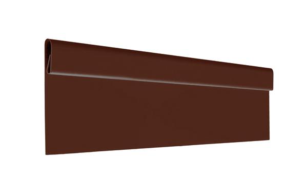 Финишная планка алюминий AquaSystem Polyester коричневый RAL 8017
