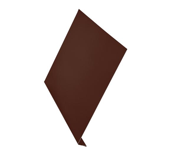 Ветровая планка (L-профиль) алюминий AquaSystem Polyester 150 мм коричневый RAL 8017