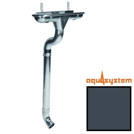 Металлический водосток Aquasystem 125/90 RR 23 (темно-серый)