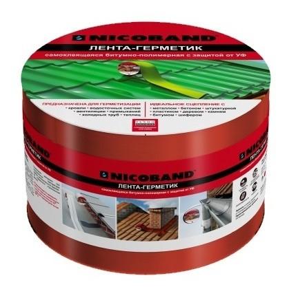 Лента герметизирующая Nicoband 10000х100 мм красная самоклеящаяся