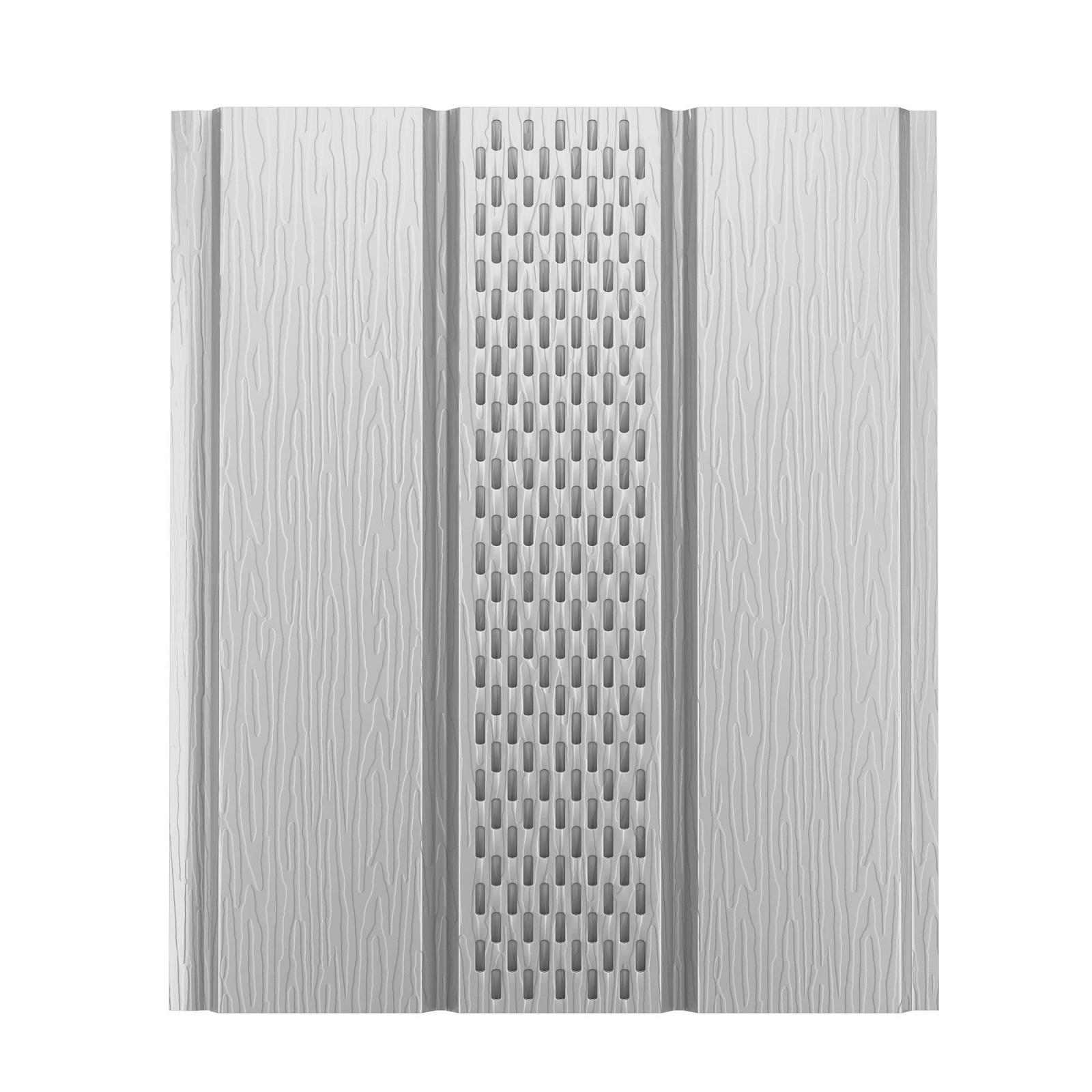 Софит алюминиевый с центральной перфорацией Aquasystem Polyester, 2,4 м RR 20