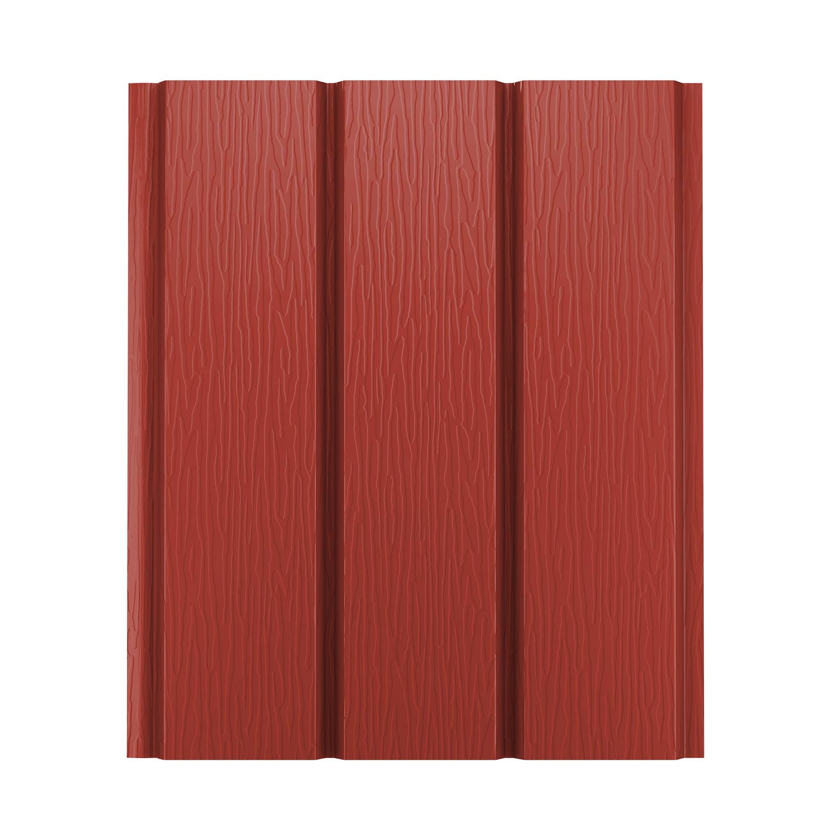 Софит металлический AquaSystem без перфорации Pural 275 г/м2, 2,4 м красный RR 29