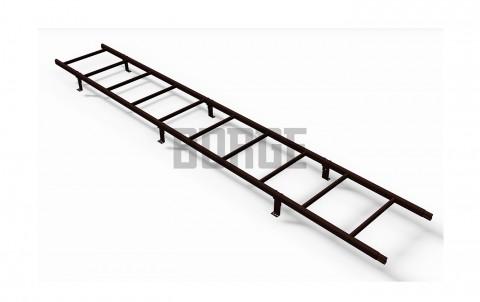 Лестница кровельная BORGE для металлочерепицы 3 м RAL 8017 Коричневый шоколад