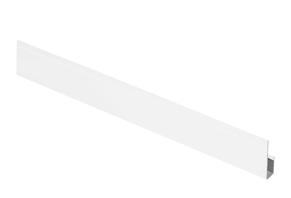 G-планка алюминий AquaSystem Polyester белый RR 20