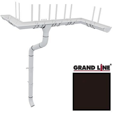 Металлический водосток Grand Line 125/90 RR 32 (темно-коричневый)