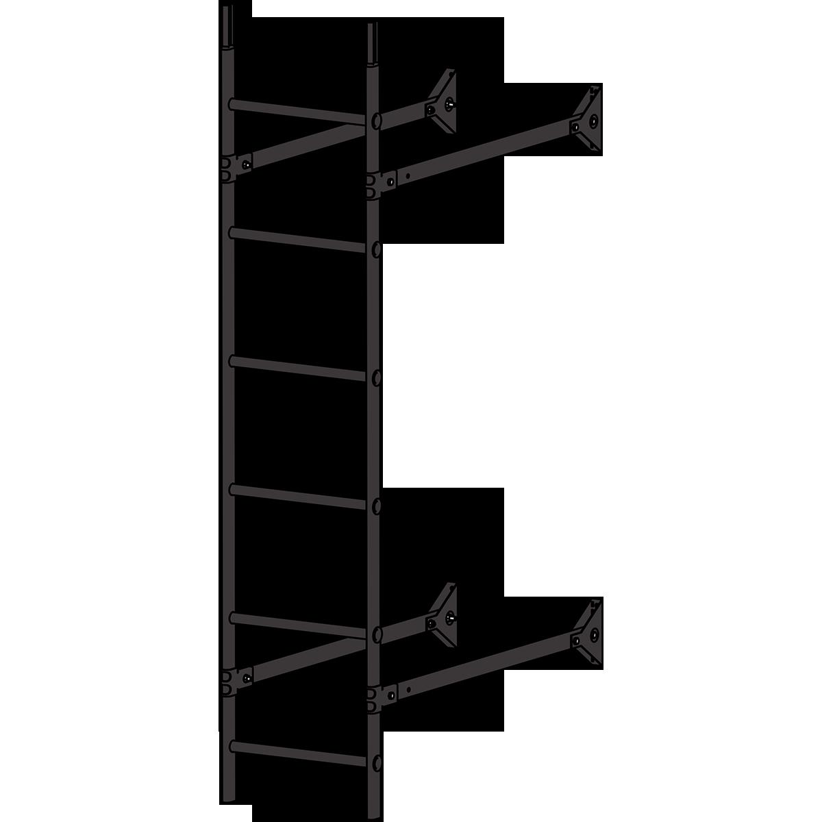 Лестница стеновая ROOFSYSTEMS ELITE 400 1,8 м RAL 8019 Серо-коричневый