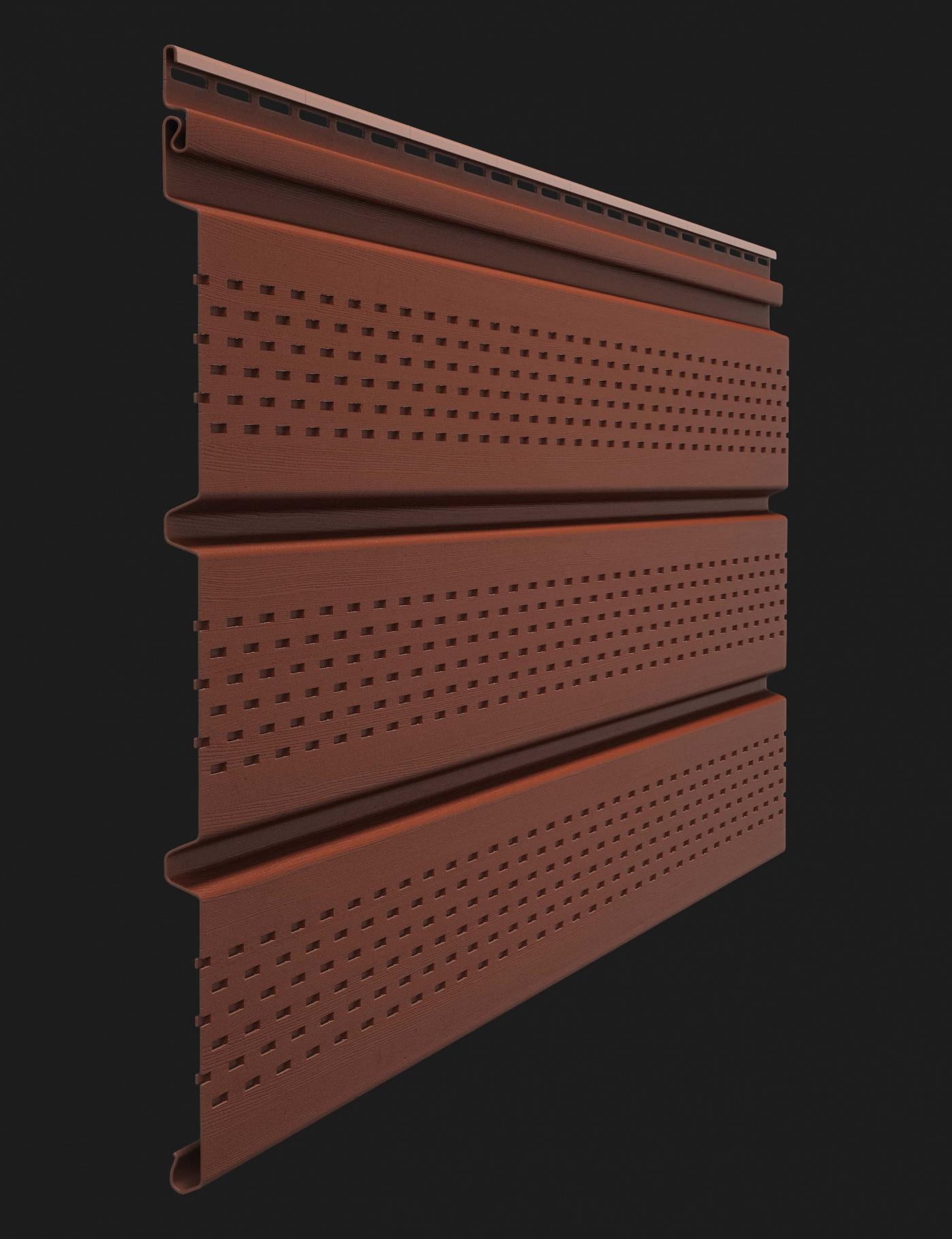 Софит виниловый Docke Premium T4 с полной перфорацией 3000 мм Гранат
