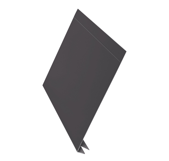 J-фаска алюминий AquaSystem Polyester Matt коричневый 150 мм RAL 7003