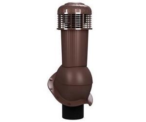 К-96 Вентиляционный выход НЕИЗОЛИРОВАННЫЙ (неутепленный) с электрическим вентилятором 305 куб.м./час D125/110 мм Н 500 мм с переходником 125/110 мм RAL 8017