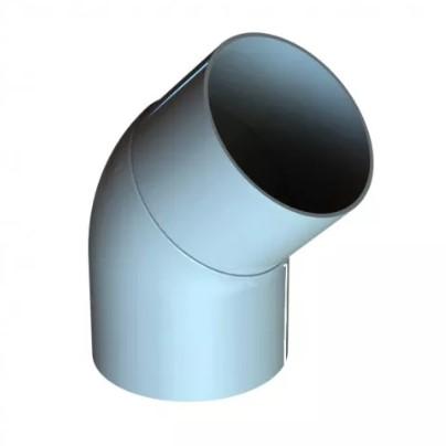 Колено трубы 45⁰ 120/100 RAL 9010 (Алюминий)
