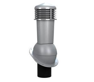 К-88 Вентиляционный выход НЕИЗОЛИРОВАННЫЙ (неутепленный) D 125/110 мм Н 500 мм с переходником 125/110 мм (съемный колпак) RAL 7046
