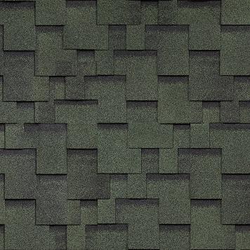 Гибкая черепица однослойная Shinglas Финская Аккорд Зеленый