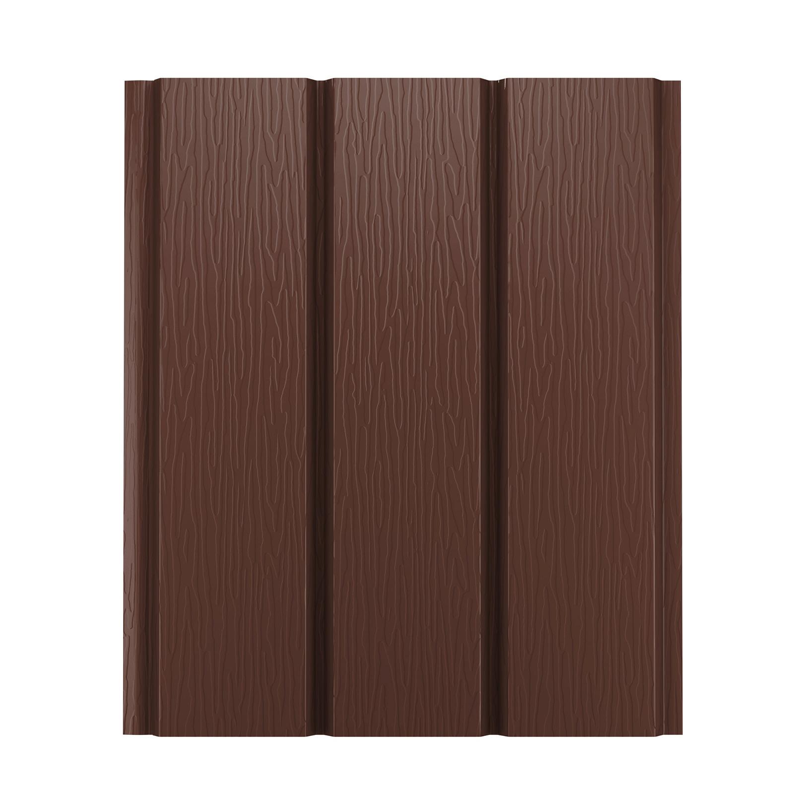 Софит металлический AquaSystem без перфорации Pural 275 г/м2, 2,4 м коричневый RAL 8017