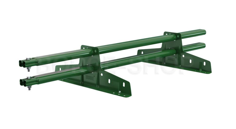 Снегозадержатель трубчатый плоскоовальный BORGE 25х45 мм, L-1 м, 2 опоры для металлочерепицы RAL 6005 Зеленый мох