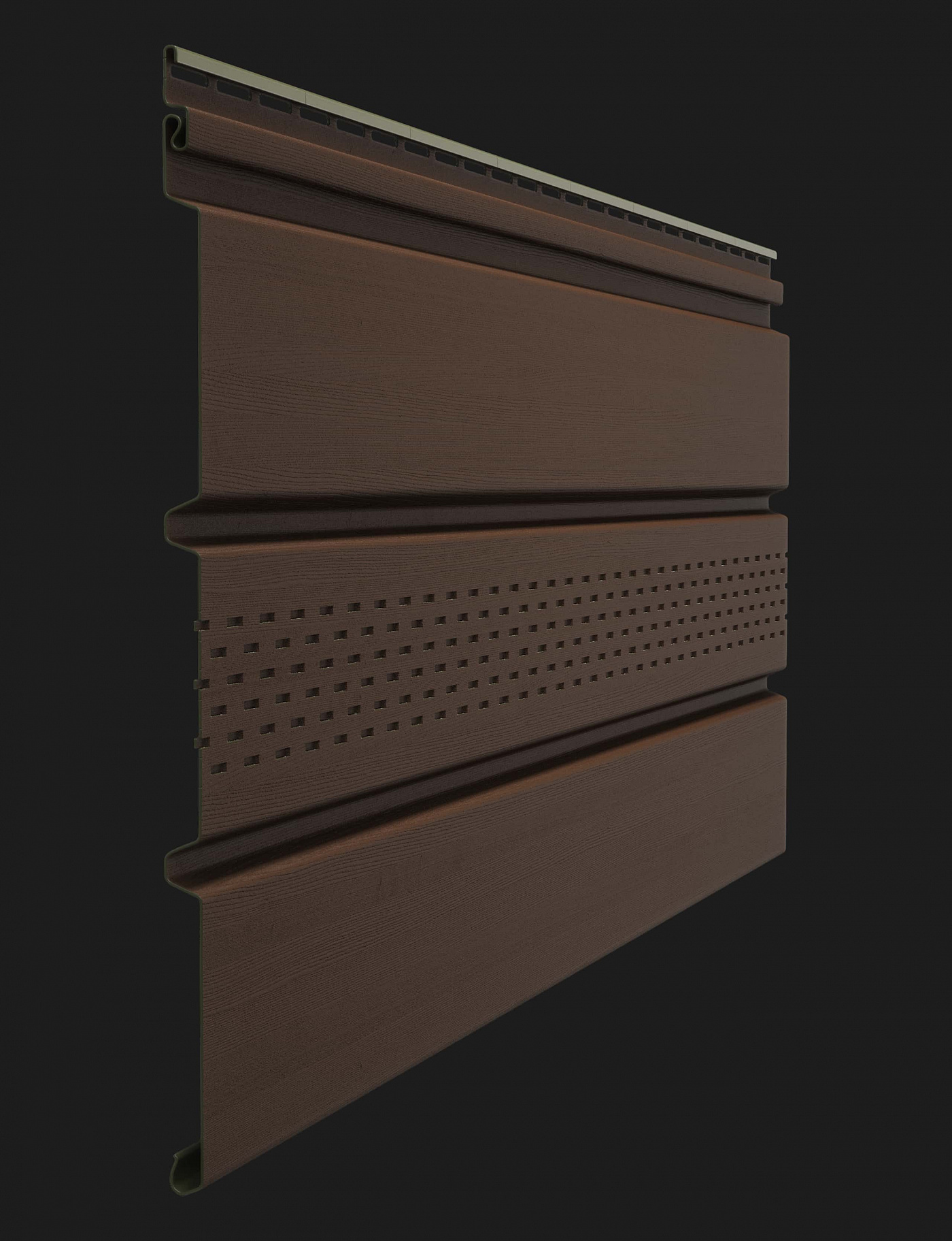 Софит виниловый Docke Premium T4 с центральной перфорацией 3000 мм Каштан