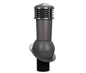 К-88 Вентиляционный выход НЕИЗОЛИРОВАННЫЙ (неутепленный) D 125/110 мм Н 500 мм с переходником 125/110 мм (съемный колпак) RAL 7024