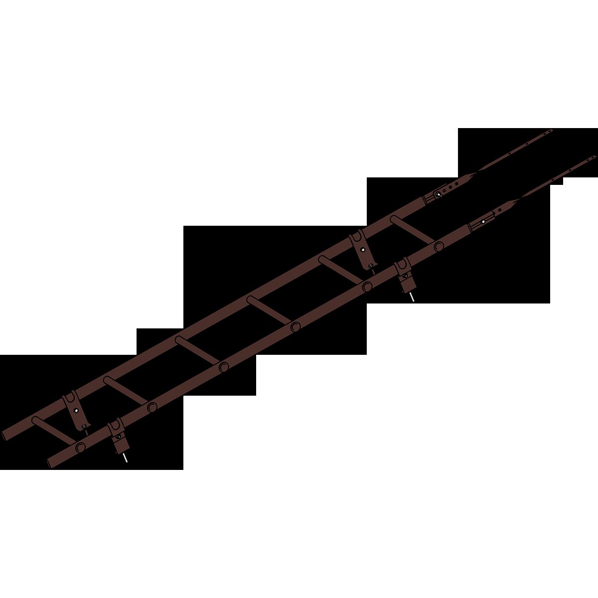 Лестница кровельная ROOFSYSTEMS PRESTIGE ZN 45х25 (овал) 400 унивеpсальная 1,2 м RAL 8017 Коричневый шоколад