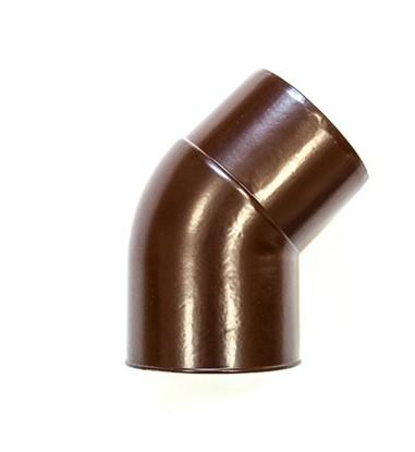 Колено трубы 45⁰ 150/100 RAL 8017 (Алюминий)