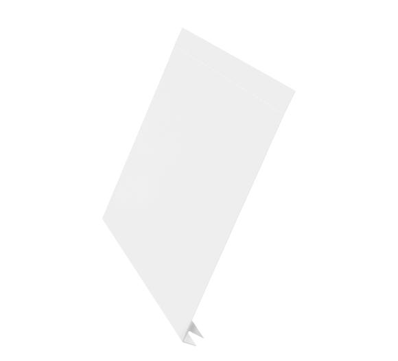 J-фаска алюминий AquaSystem Polyester белый 200 мм RR 20