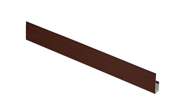 G-планка алюминий AquaSystem Polyester коричневый RAL 8017