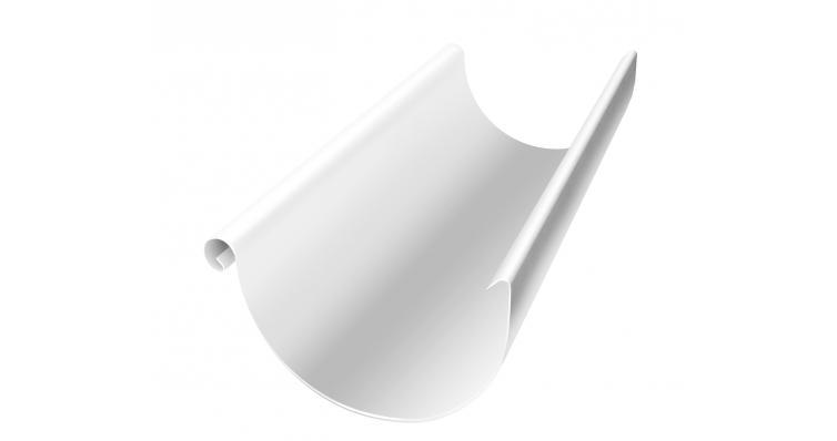 Желоб водосточный полукруглый Grand Line 150 мм 3 м RAL 9003 сигнальный белый