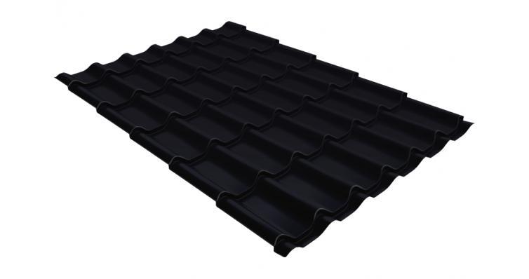 Металлочерепица Grand Line Classic 0,5 Velur20 RAL 9005 черный