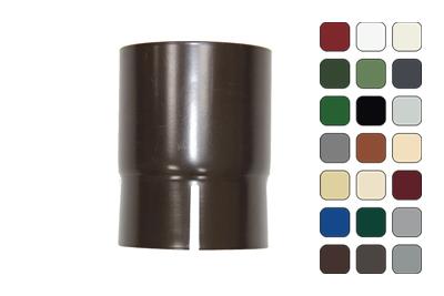 Соединитель трубы 150/100 RAL 6002 (Алюминий)