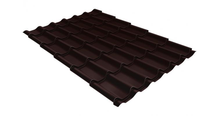 Металлочерепица Grand Line Classic 0,5 Velur20 RAL 8017 шоколад