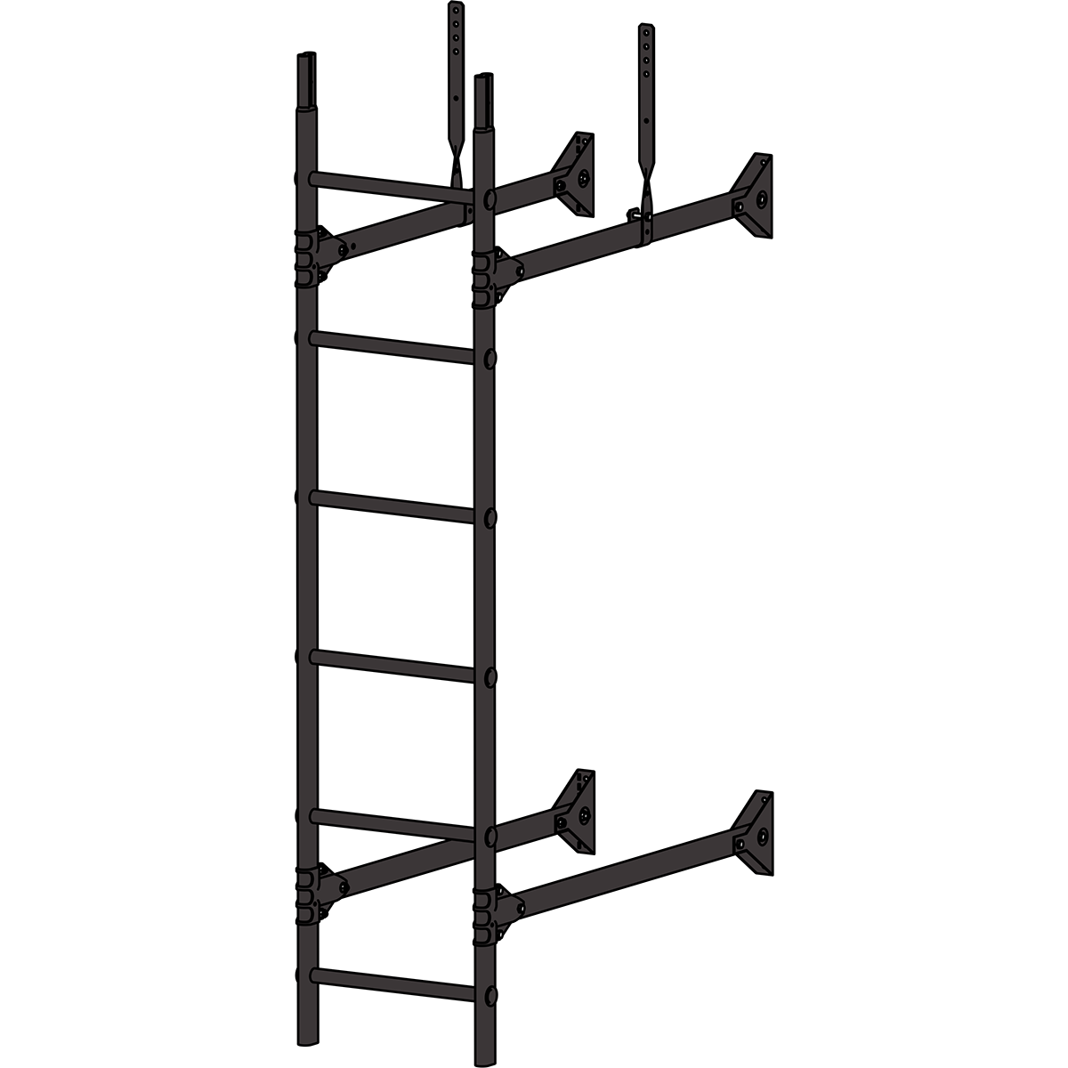 Лестница стеновая ROOFSYSTEMS PRESTIGE ZN 1,2 м RAL 8019 Серо-коричневый
