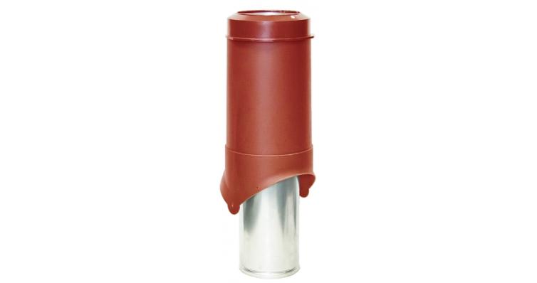 Выход вентиляции Krovent Pipe-VT 150 красный