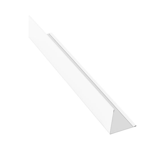 Планка угловая (внешняя) алюминий AquaSystem Polyester белый RR 20