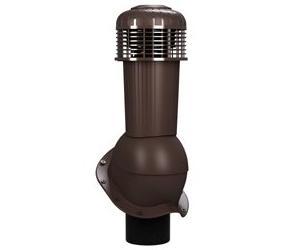 К-96 Вентиляционный выход НЕИЗОЛИРОВАННЫЙ (неутепленный) с электрическим вентилятором 305 куб.м./час D125/110 мм Н 500 мм с переходником 125/110 мм RAL 8019