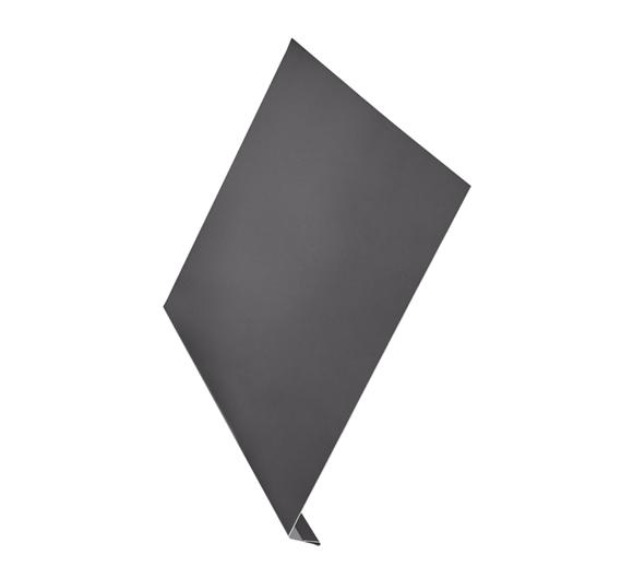 Ветровая планка (L-профиль) алюминий AquaSystem Polyester Matt 150 мм коричневый RAL 7003