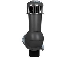 К-96 Вентиляционный выход НЕИЗОЛИРОВАННЫЙ (неутепленный) с электрическим вентилятором 305 куб.м./час D125/110 мм Н 500 мм с переходником 125/110 мм RAL 7021