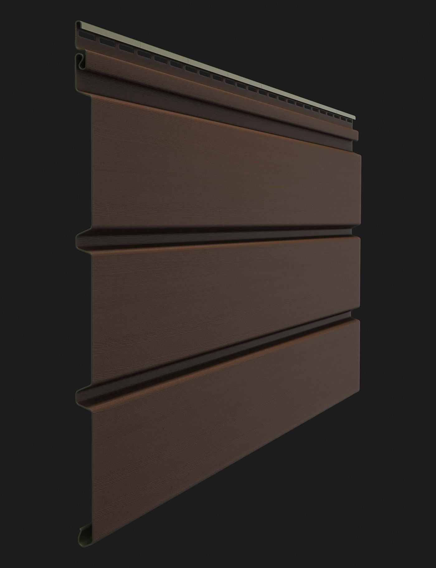 Софит пластиковый Docke Premium T4 сплошной без перфорации 3000 мм Каштан