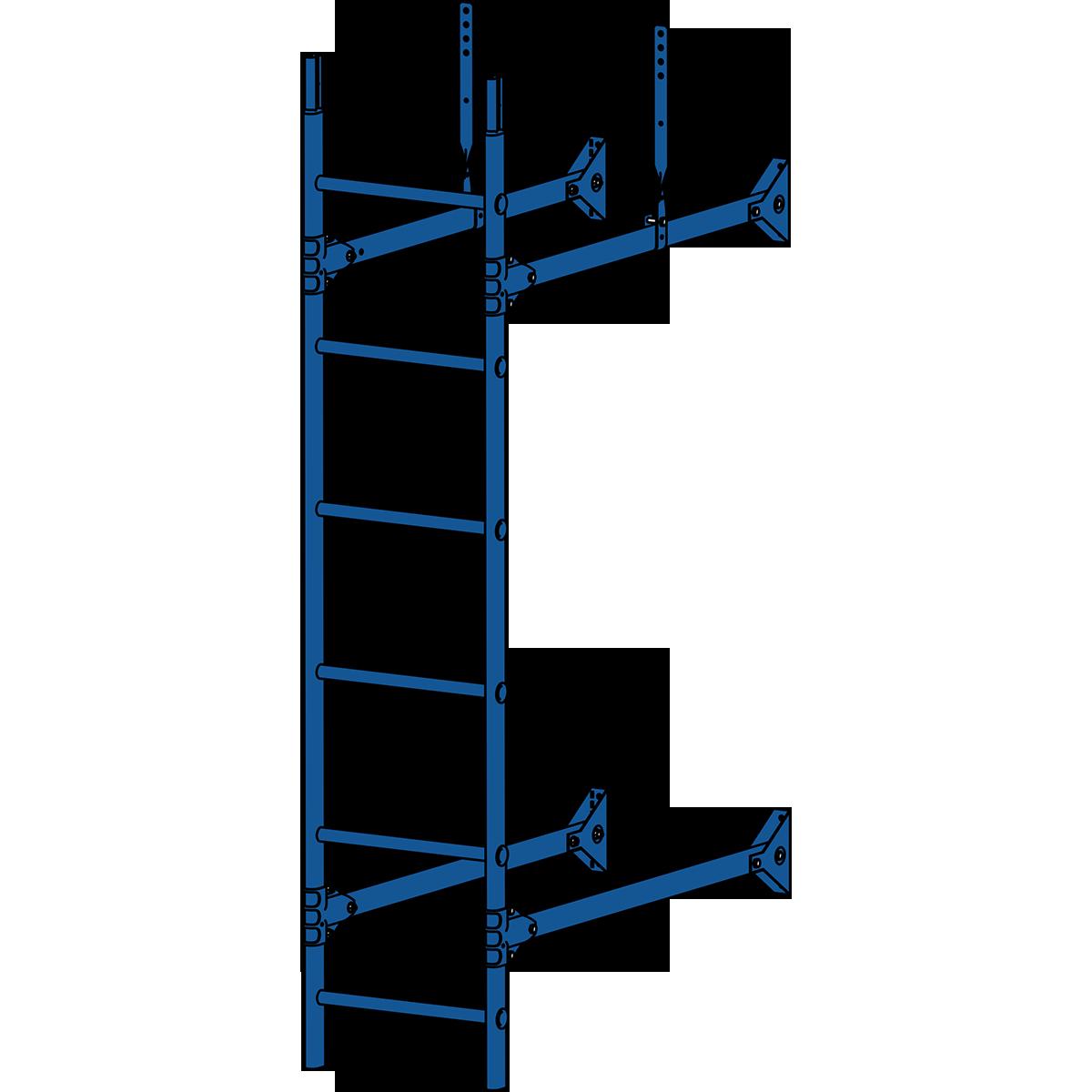 Лестница стеновая ROOFSYSTEMS PRESTIGE ZN 3м RAL 5005 Синий насыщенный