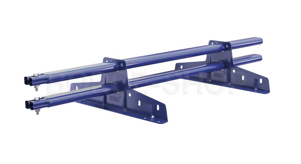 Снегозадержатель трубчатый плоскоовальный BORGE 25х45 мм, L-1 м, 2 опоры для металлочерепицы RAL 5005 Синий насыщенный