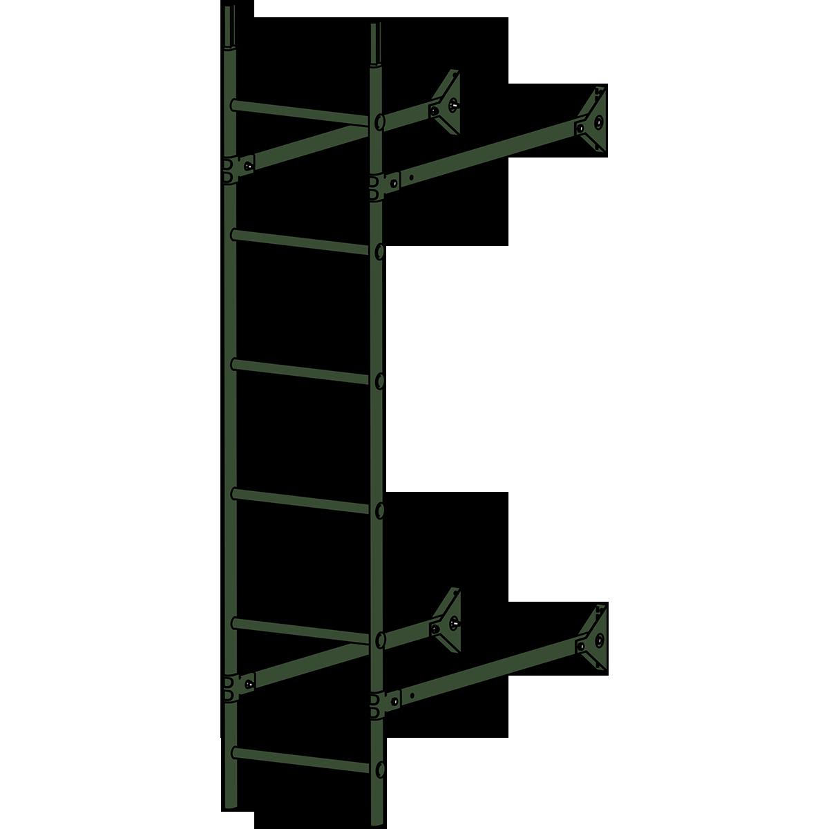 Лестница стеновая ROOFSYSTEMS ELITE 400 1,8 м RAL 6020 Зеленый хром