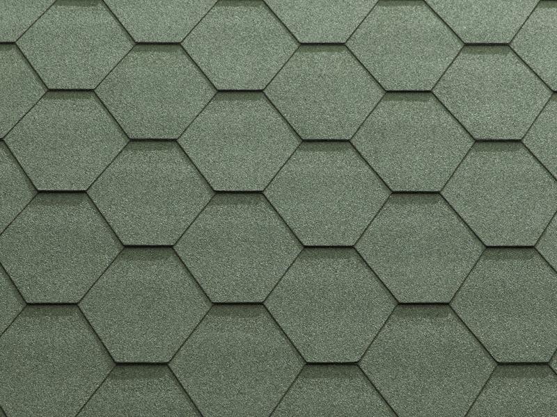 Гибкая черепица Katepal CLASSIC-KL Зеленый