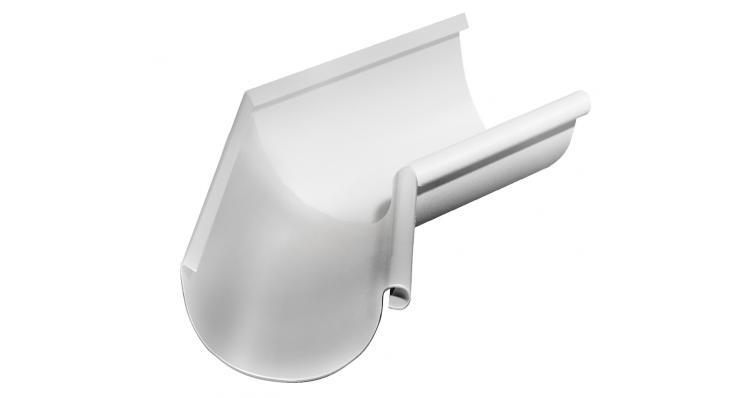 Угол желоба внутренний 135 градусов Grand Line 150 мм RAL 9003 сигнальный белый