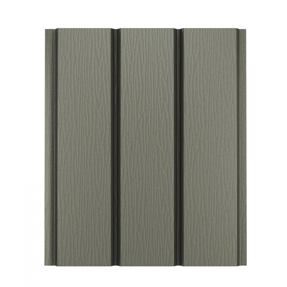 Софит алюминиевый без перфорации Aquasystem Polyester Matt, 2,4 м RAL 7003